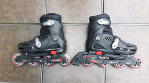 Kids adjustable roller blades size 12-2 with protective equipmen