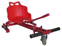 Go Kart Adjustable compatible for Segway Hoverboard Electric Scooter in red