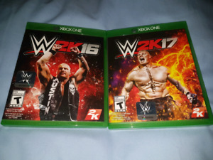 2 Xbox One Games. WWE2K16 & WWE2K17