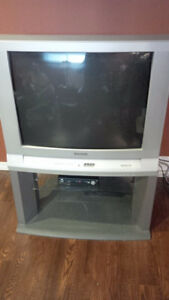 Panasonic TV ( comes with stand and VHS player)