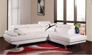 NEUF Sofa sectionnel NOIR,BLANC,ROUGE ou GRIS(1519)taxes inclus
