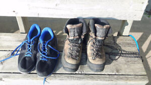 Running shoes and lightweight hiking boots for sale