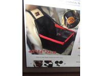 Foldable Dog Travel Car Seat , with safety belt, Used twice