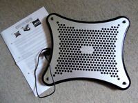 Antec Laptop/Notebook Cooler, USB, 2 Double Ball Bearing Fans, Quiet, Excellent Working Condition
