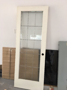 30 x 80 glass panel door
