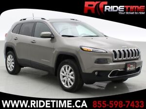 2017 Jeep Cherokee Limited 4WD - Panormaic Roof, NAV, Tech, Safe