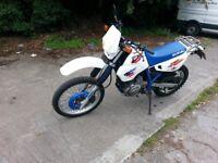 suzuki dr 650 se 1995 blue / white enduro