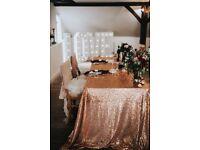 Rose Gold Table Linen