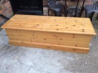 Farmhouse pine Blanket box Chest Trunk (delivery available)
