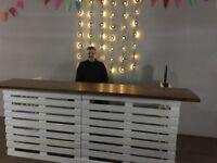Handmade Pallet Bar - folds away