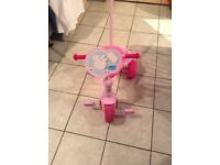 Peppa pig trike with parent handle