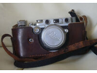 Vintage 1938 Leica III with 1937 Summar 50mm 1:2 lens and Metraphot 2 meter.