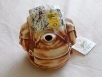 """Leyburn Tea Pottery """"Rucksack"""" teapot"""