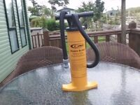 Double action push pull pump heavy duty adapted to drain off caravans in winter