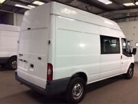 59 plate ,ford , transit , crew van , 9 seater , only 82k , full ford service history ,