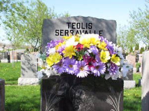 Many choice of Cemetery Tombstone Flowers $ 34.99 to $ 69.99