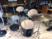 Full Size Drum Kit PP 250 Black (+ extras)