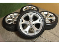 "Genuine Vauxhall Corsa D VXR 17"" Alloy wheels 5x110 Opel Astra SXI SRI Alloys"