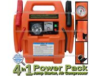 Portable Car Battery Booster Jump Starter Power Pack Station With Air Compressor