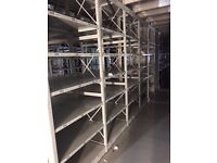 JOB LOT 50 bays of LINK industrial shelving 2.5m high AS NEW ( storage , pallet racking )