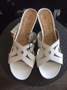 White wedge sandals for sale!