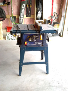 Mastercraft 15A table saw w/ stand, 10 In