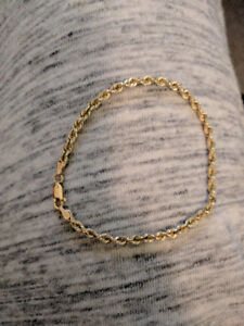 14 kt yellow old rope bracelet