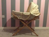 Unisex Moses basket + stand all From Mamas & Papas