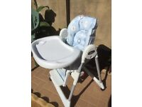 Chicco blue high chair