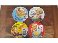 Kellogg's Corn Flakes Vintage Retro Advertising 8'' Collectors Plates