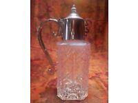 Vintage, Silver Plated Glass, Bacchus Claret Jug.