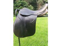"17"" Ideal Black leather GP saddle"