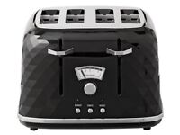 AS GOOD AS NEW DELONGHI 4 SLICE TOASTER BLACK