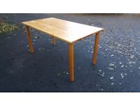 Solid Pine Dining Table (150cm) FREE DELIVERY 504