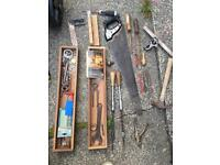 Joiners tool box old items included