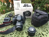 Canon 650D Dslr camera with lenses & accessories