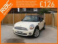2010 MINI Convertible 1.6 Convertible 6 Speed Electric Soft Top Parking Sensors