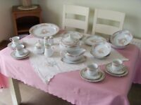 IMMACULATE 70 PIECE CROWN CHINA DINNER/TEA SET.