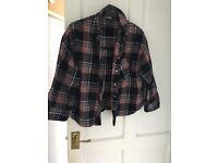 Size 12 Cropped Checked River Island Shirt £5