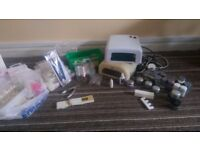 Nsi gel nail kit with two lamps