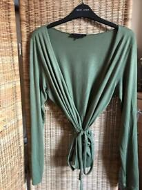 Betty Jackson Wrap Over Ladies Top Large