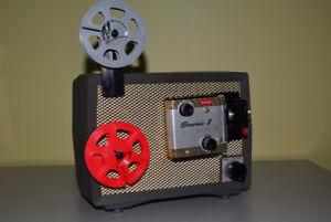 Vintage Kodak Brownie 8 Model 10 Movie Projector with Case