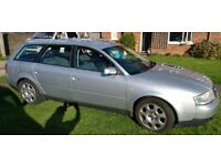 Silver Audi A6 Avant 1.9 TDI. Brilliant estate/family car with 2 extra seats in the boot.