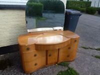 Nice Shaped Curved Dressing Table With Mirror Delivery Available
