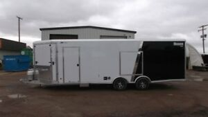 2016 Mission Trailers 8.5X28' MCH heated car/snow combo