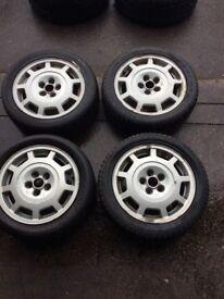 "VW GOLF MK3 15"" GTI ALLOY WHEELS & TYRES 195/50/15 5 STUD"