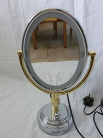 REVLON Oval Double Sided LIGHTED Vanity Mirror