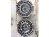 "2x Corsa SXI 15"" Steel wheels"