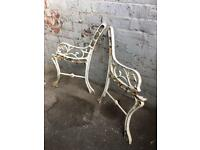 traditional cast iron garden bench ends £15