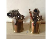 Pair of old fashioned parrafin lamps pick up only